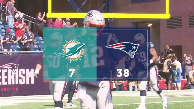 The patriots stifled the dolphins with defensive 180
